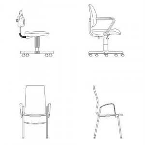 Office Chairs Dwg Block Max